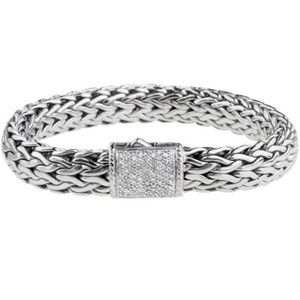 John Hardy diamond clasp bracelet.
